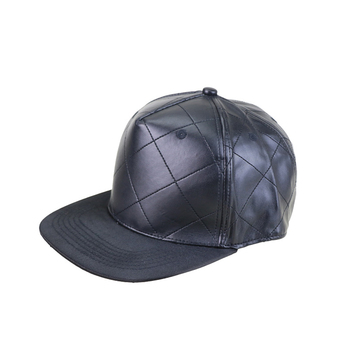 67a714f5222 Professional men stylish custom design quilted Leather Strap Back Strap  Snapback Hat