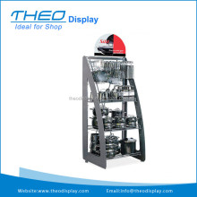Folding Metal Display Rack for Kitchen Merchandise