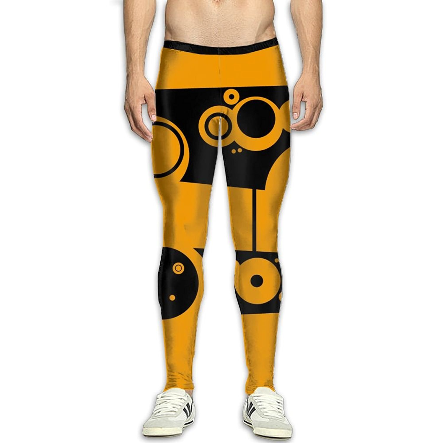 ba9dc7e3f Get Quotations · Fri Yellow And Black Cool Compression Pants Running Tights  Gym Tights For Men Female Christmas