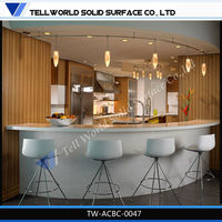 New style graceful curved bar counter small small bar counter designs