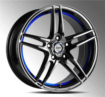 Best Supplier Car Sport Rim Malaysia Yellow Blue Rims