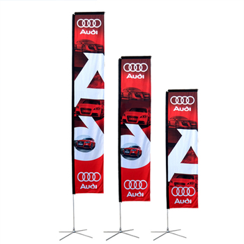 Rectangular flag double sided 65gsm polyester square type fabric beach flag for products promotion