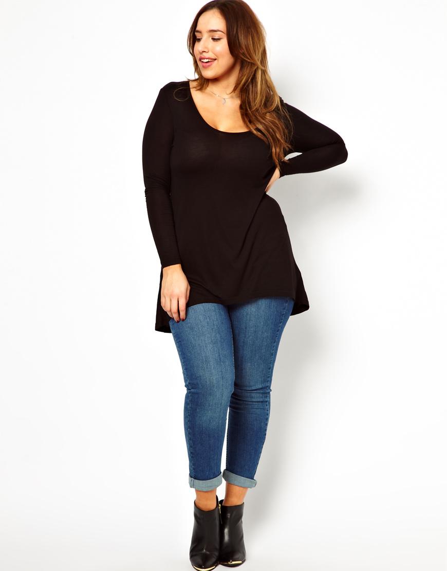 M3023 Sexy Women Black Long Sleeve Plus Size Latest Fashion Long ...