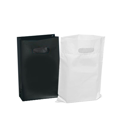 Houseables Plastic Merchandise Bags, Retail Clothes Shopping Bag For Stores, Boutiques, Clothes, Books