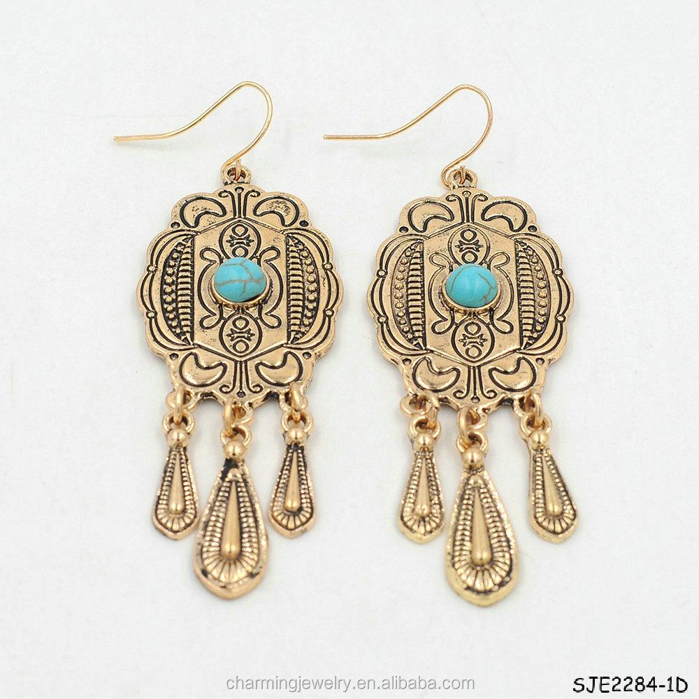New Design Women 3 Gram Gold Beautiful Designed Earrings