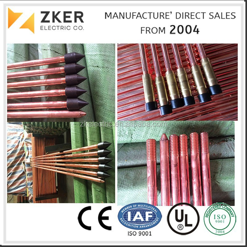 whole price copper fence ground material for earthing