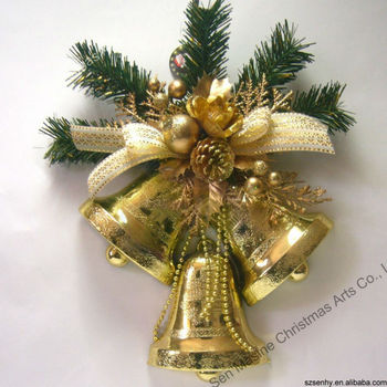 30cm plastic bell large christmas decorations