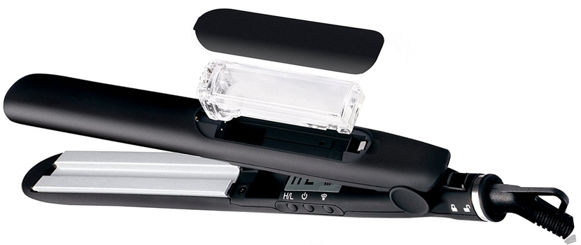 Dual voltage CETL approval tourmaline titanium ceramic electric professional steam hair straightener flat iron