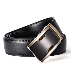 Top Selling Fashion Brand Business Men's Genuine Split Cow Leather Belts Wholesale Custom Logo Alloy Automatic Buckle Belts