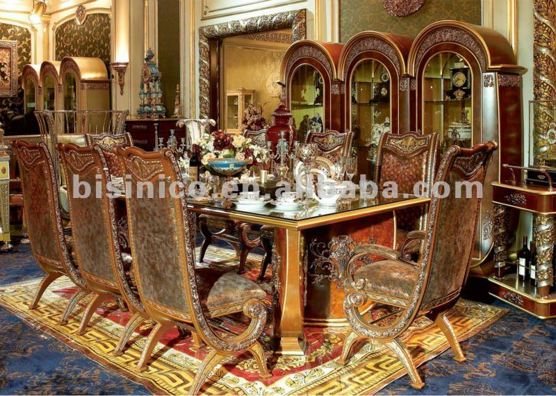 Luxury Home Dining Table Set,European Classical Dining Table And  Chair,Wooden Carved With Brass/bronze(b50888)   Buy Dining Table Set,Classic  Luxury Wooden ...