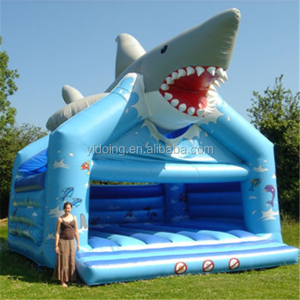 Shark jumping bouncer,commercial grade inflatables B1019