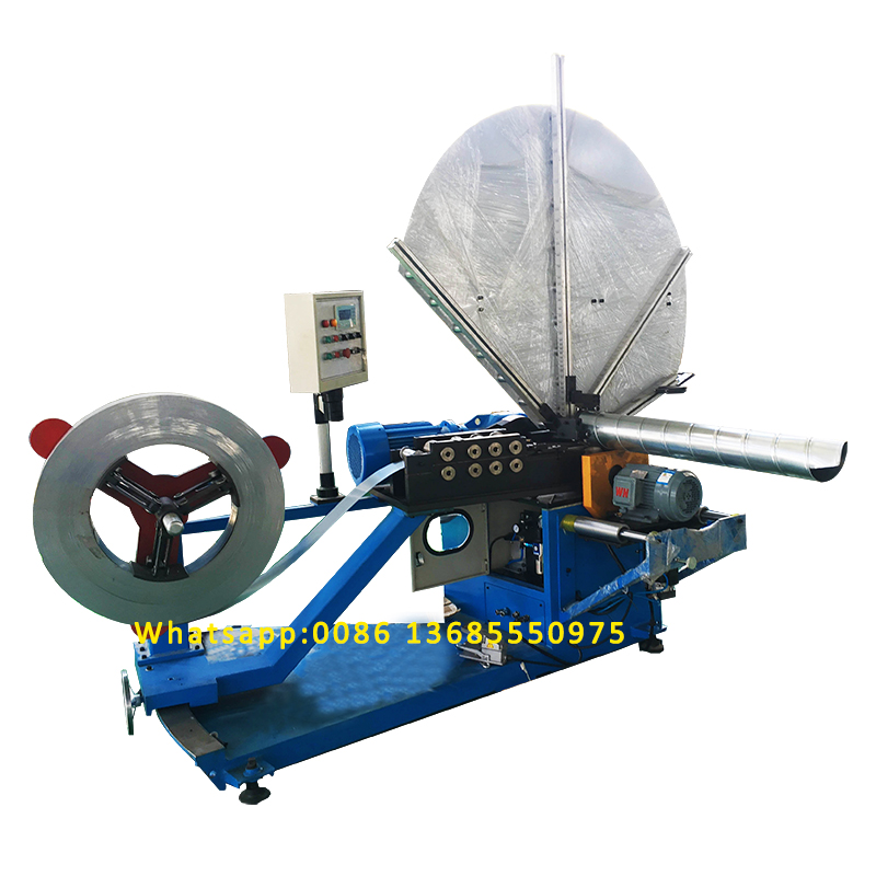 spiral duct forming machine/HVAC auto duct line/Sprial tube production fabrication machine