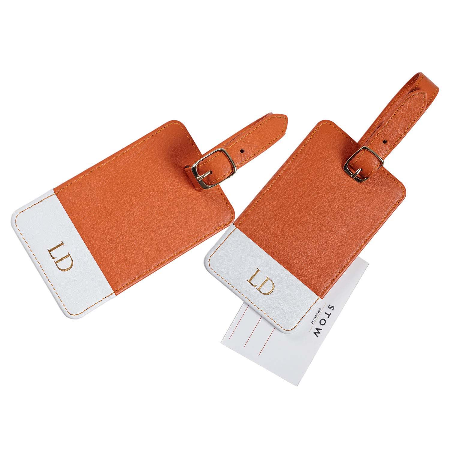 handmade personalized custom bulk  faux leather travel luggage tag name label