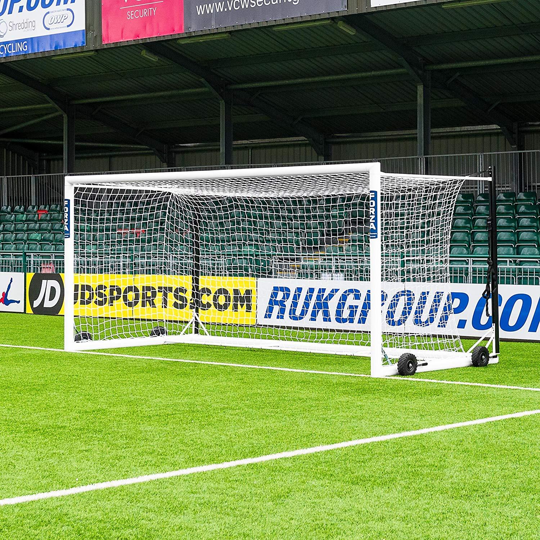 Forza Alu110 Freestanding Stadium Box Soccer Goals (CHOOSE YOUR SIZE) | Aluminum Soccer Goal Posts | Weatherproof Box Soccer Goal | Soccer Goals For Professionals [Net World Sports]