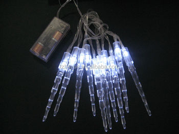 battery operated icicle light chain christmas light festival season