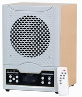 Wood cabinet ozone air purifier with LCD screen display and remote control