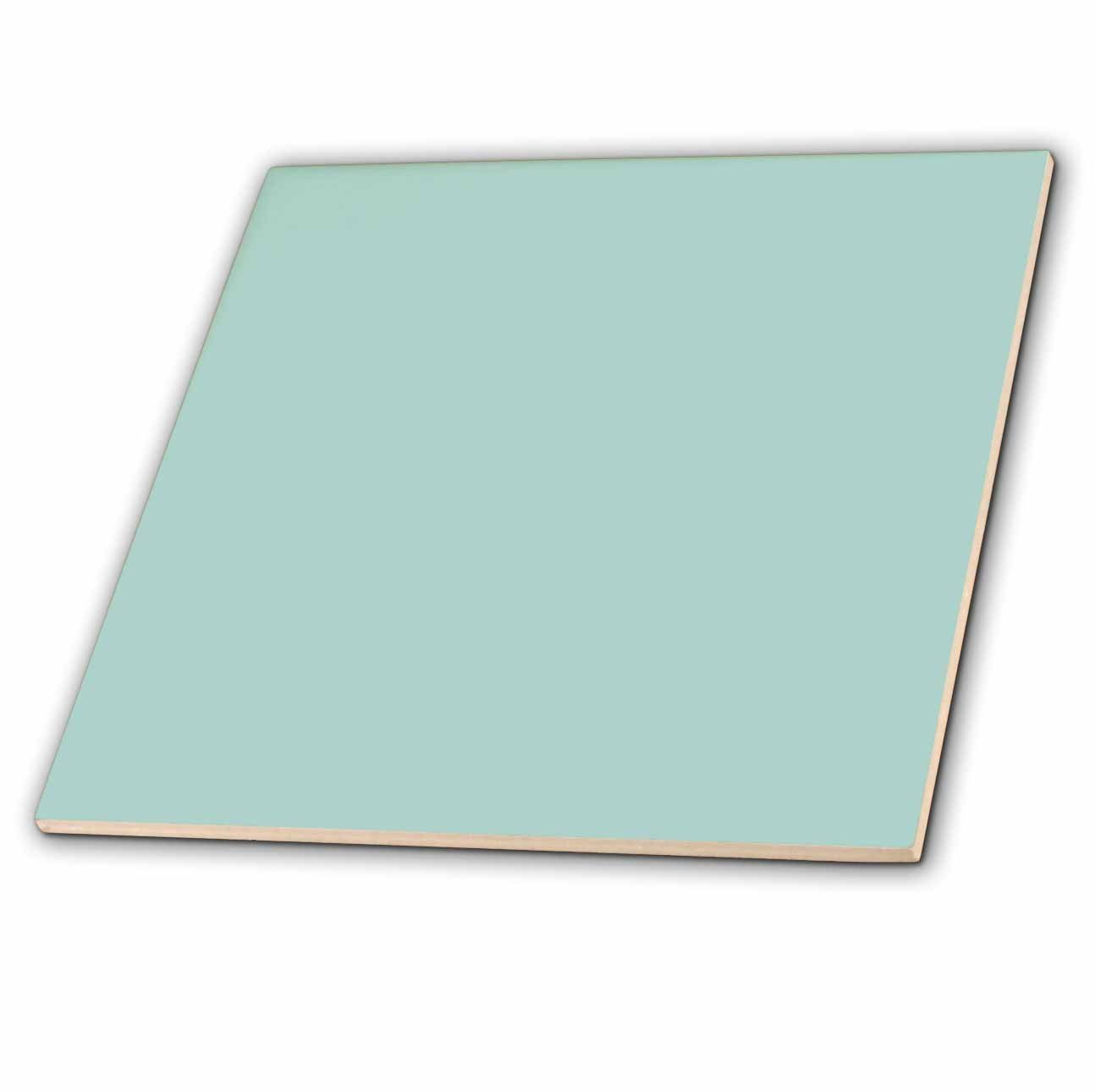 3dRose ct_159844_1 Plain Mint Blue-Solid Color-Light Turquoise-Grey-Gray-Modern Contemporary Simple Pastel Teal-Ceramic Tile, 4-Inch