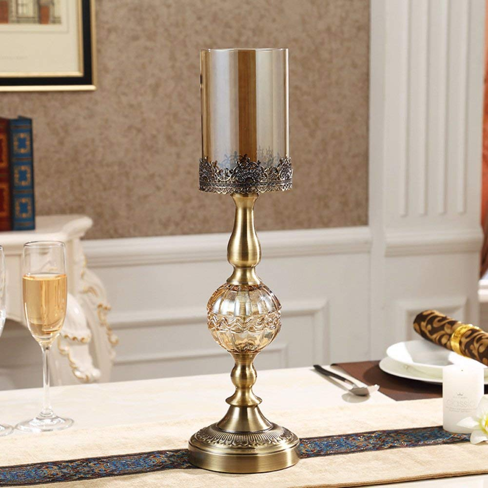 Get quotations · european style crystal glass candle holderscoffee table dining table candlestick holder decoration candle holders