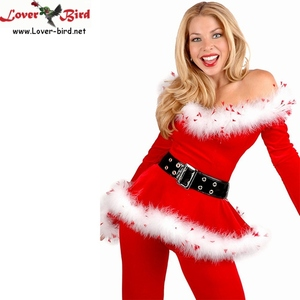 High Quality Santa Claus Costume For Women Sexy Christmas Cosplay Full Set Of Christmas Costumes Santa Claus For Adult Couple