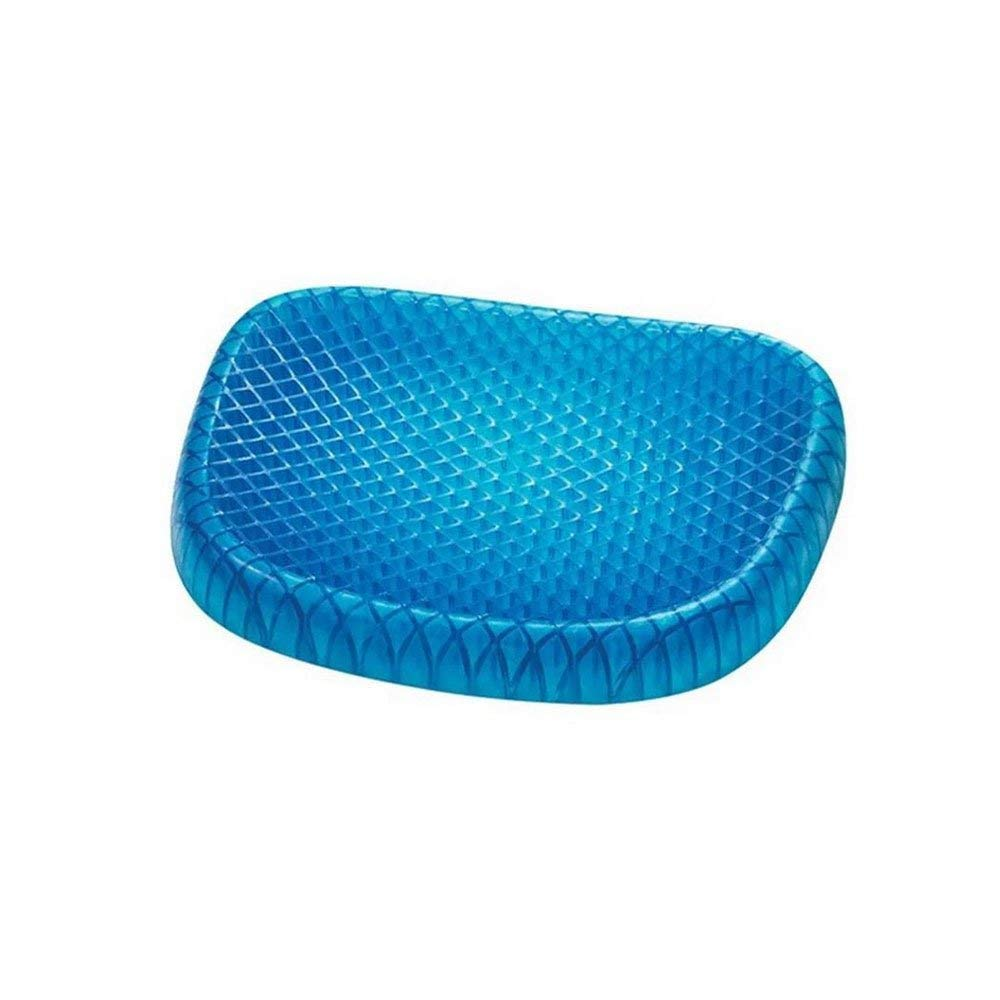 mochengbaihuo Gel Seat Cushion, Memory Seat Cushion for The Car Or Office Chair, Wheelchair Cover Sitter Soft Pad Pain Relief Back & Sciatica(Blue)