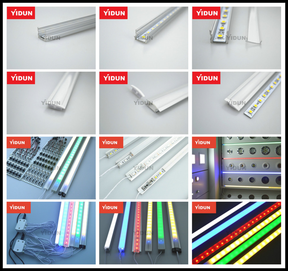 Aluminum Led Strip Lights Profile/channel Track/housing/mounting ...