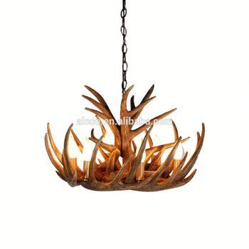 Antler lustre antique décoratif pendentif lumière bois de cerf moderne lustre hall de lhôtel