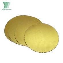 Paper golden cake round boards,wedding cake base, gold cake square board box