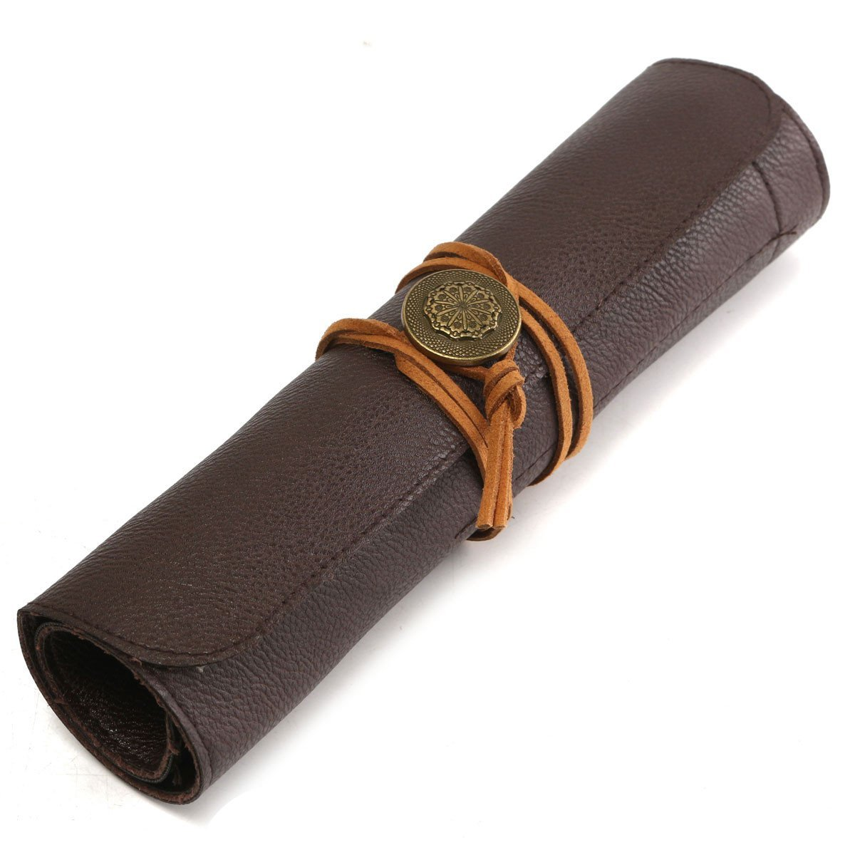 Letbo New Stone Carving Tool Bag Scabbard Can Roll Not Genuine PU Leather Tool Bag