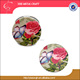 indian wedding gifts for guests red rose with butterfly round double sides plastic leather compact pocket makeup mirror