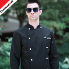 2017 Newest Chinese style button chef uniform long-sleeved chef coat for the restaurant