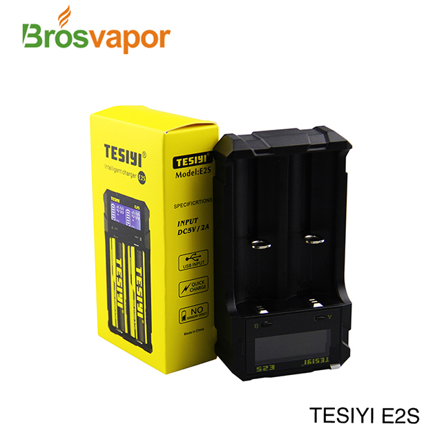 Intelligent Wholesale TESIYI E2S charger suitable for rechargeable lithium battery18650.21700.18350.26650