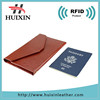 Cheap Rfid blocking travel leather passport card holder wallet