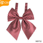 Girls Girl Bow Tie Wholesale Cheap Striped 100% Polyester Colorful Bow Ties For Girls