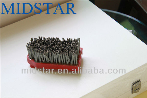 Marble Granite Antiqued Finishing Fickert Abrasive Brush For Stone Processing