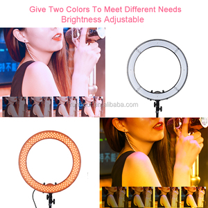 18inch 55W 5500K LED Selfie Ring Light with Light Stand Photographic Light Dimmable Camera Photo/Phone/Video Lamp Accessories