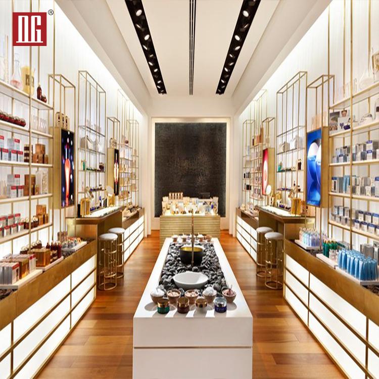 Profissional De Madeira Shopping Carrinho de Exposição Perfume