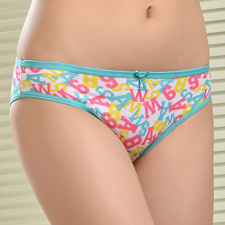 5d3951109d Cute Letter Printing Cotton Bikini Underwear For Girls