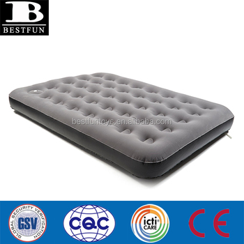 eaa6098a1ac25 inflatable flocked airbed deluxe double with pump camping sleepovers air  mattress outside folding movable sleeping air
