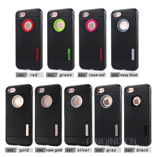 Wholesale phone accessories mobile cellphone case for iphone 7,carbon fiber back cover for iphone 7 transparent price