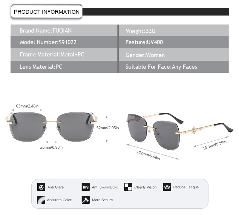 Fuqian stylish sunglasses for ladies factory for lady-9