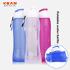 best selling outdoor drinking bpa free collapsible silicone foldable water bottle for travel sports