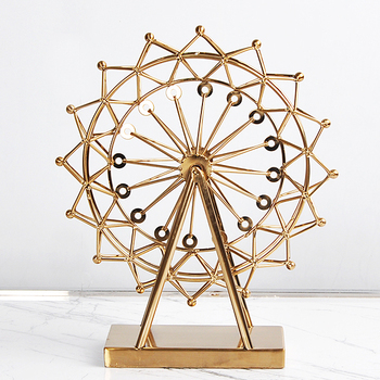 Custom Wholesale Gold Metal Ferris Wheel Home Decor For Gifts