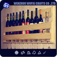 2016 new arrive wooden wine rack pine wood wine stand home decoration