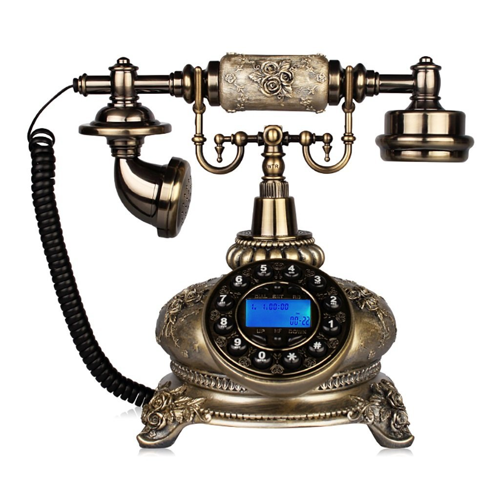 retro Telephone Retro Telephone European Bronze Cable Landline Parlor Business Office Phone Bedroom Landline Vintage Telephone Vintage Creative Phone 26cm 18cm 25cm (Hands-free)