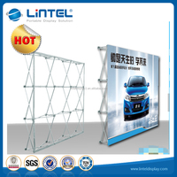 Portable exhibit display aluminum pop up stand for backdrop