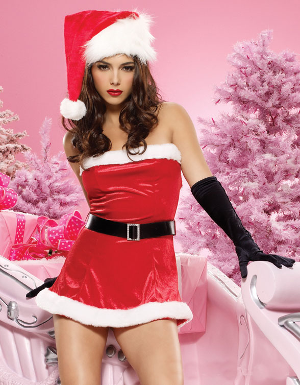 elegant red sexy christmas costume lingerie grils sexy halloween costumes female christmas party. Black Bedroom Furniture Sets. Home Design Ideas