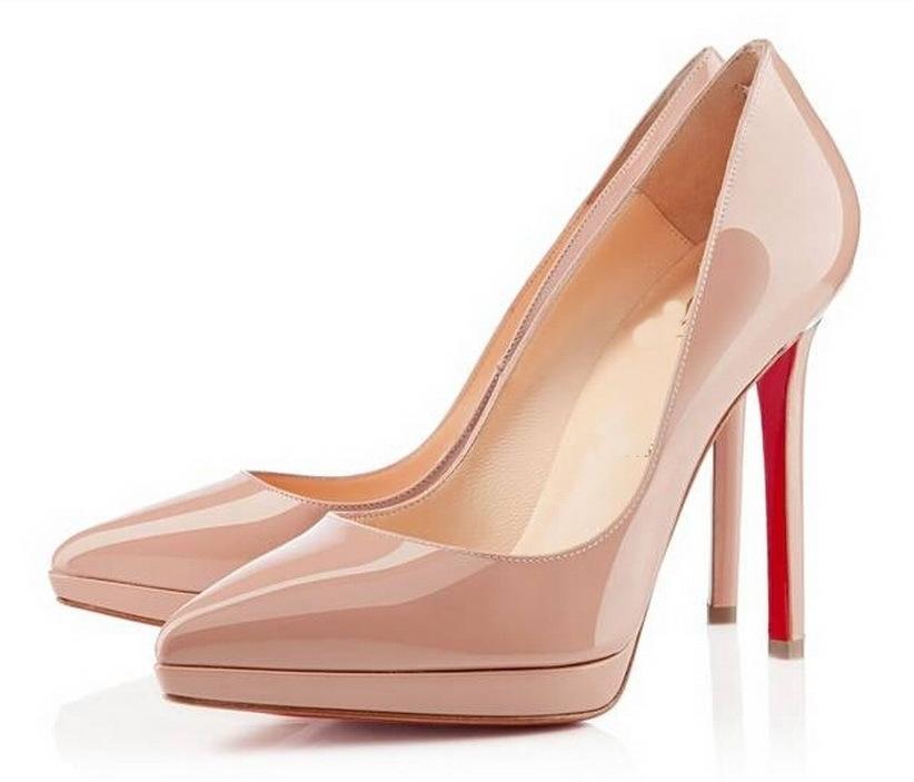 1954b06c56b Get Quotations · Brand fashion sexy women high heels platform pumps patent  leather woman brand red bottom wedding shoes