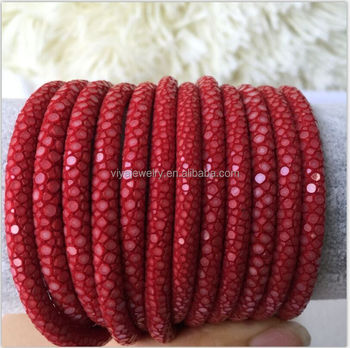 Genuine customized stingray leather cord round leather Rope to make jewelry DIY