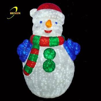 White 3d Christmas Snowman Motif Light - White 3d Christmas Snowman Motif Light, View Santa And Snowman Led