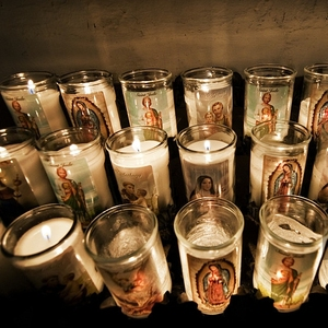 wholesale santeria 7 day glass cup candles